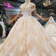 AIJINGYU Vestidos de Casamento Frente Curto Tempo de Volta da China Preço de Fábrica Fabricante O Mais Belo Vestido Dois Em Um Vestido De Noiva com