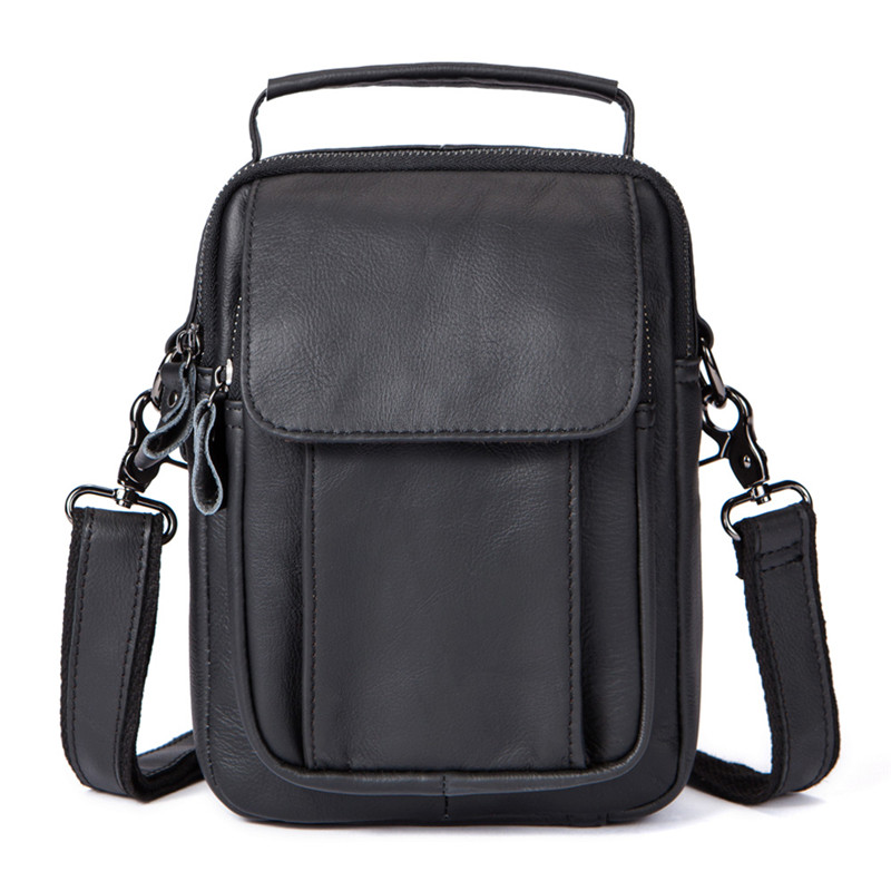 New Men's Bag Cowhide Genuine Leather Shoulder Bag Strap Small Flap Men's Briefcase Man Messenger Bags For Men Casual Handbags