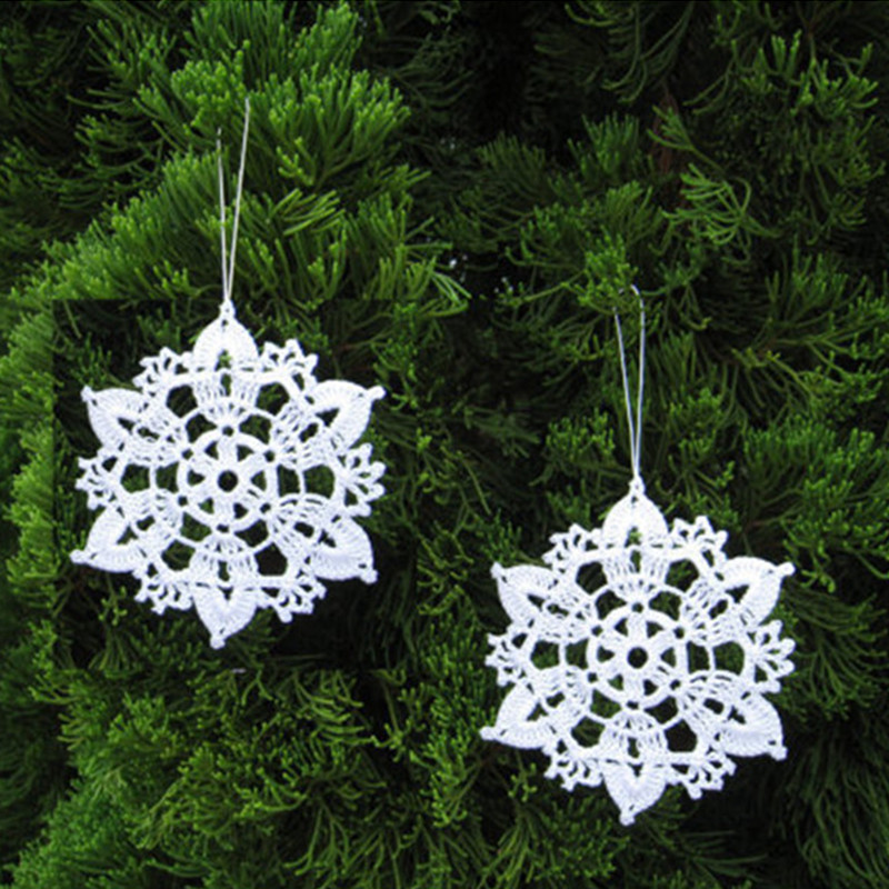 Buy set of 10 crocheted snowflake home for Purchase christmas decorations