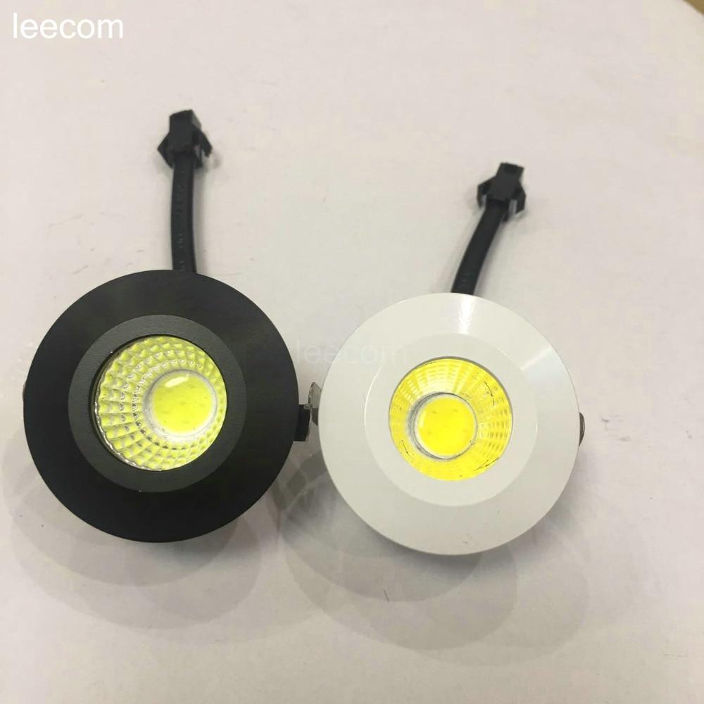 6 pçs/lote diâmetro 3 40 milímetros Mini-downlight LEVOU Sob o Armário Luz Do Ponto W para DC12V Recesso Lâmpada Do Teto Para Baixo luzes frete grátis