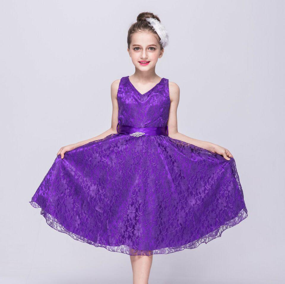 Mädchen kleid neuen stil kinder kostüme hochzeit abendkleid partei ...