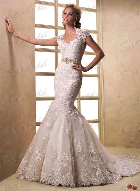 FSM0239 EF1604 Vintage Beaded 2013 Designer Spanish Lace Bridal Wedding  Dress Mermaid Keyhole Back 422b7af874ef