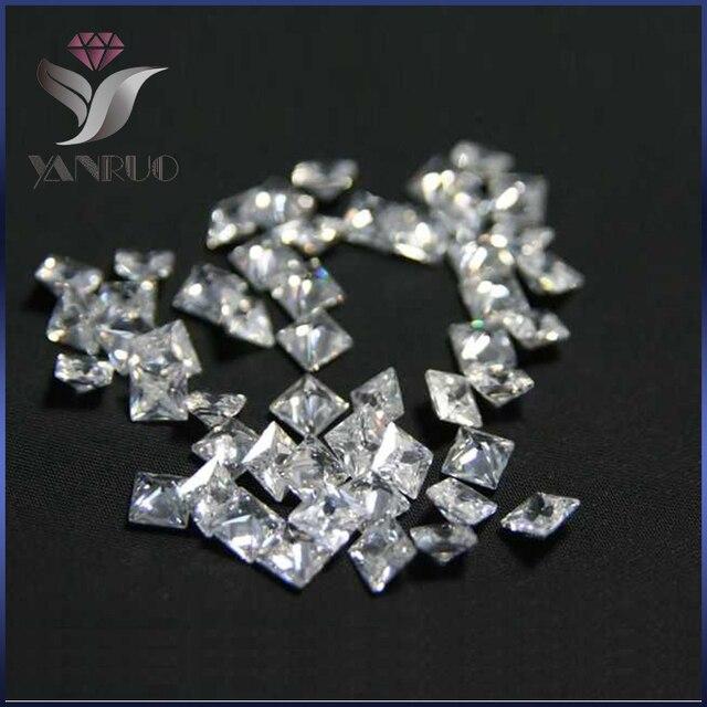 YanRuo  4447 500 pcs 3mm non similisée Carré Blanc Brillant Cubique Zircone  Pierre Diamant Diamant 0fbf4ca7a49e