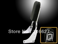 CHROME FLAME BACKREST SISSY BAR for Honda Shadow ACE 1100 Passenger Seat w/Pad