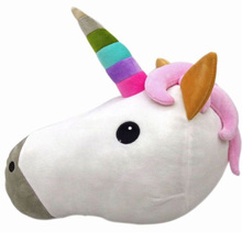 Kawaii Unicorn Horse Head Soft Plush Toy for Children 35 38cm Home Cartoon Stuffed Animal Pillow