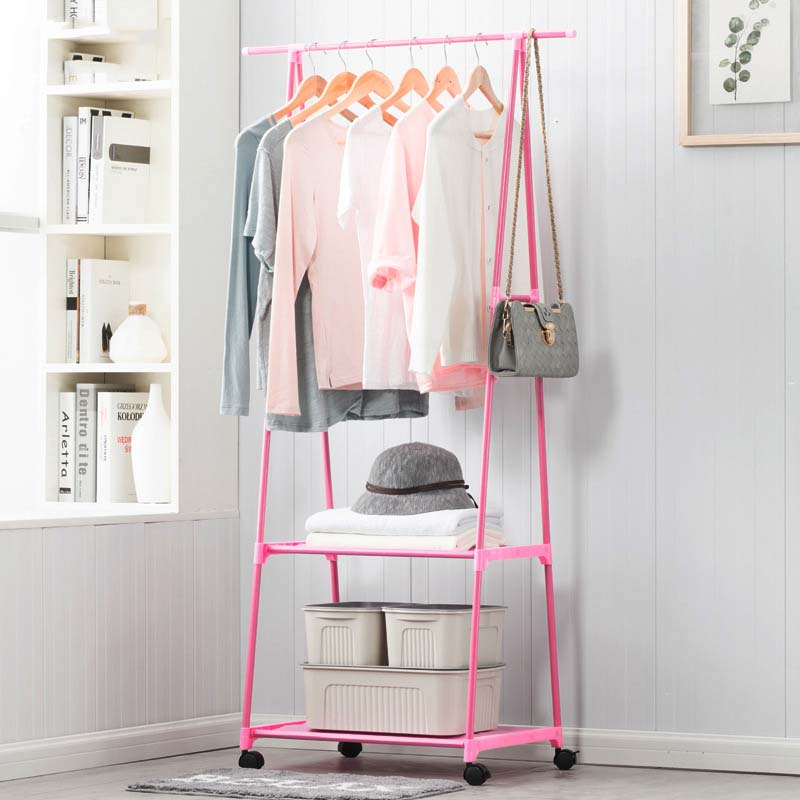 Cintre Mobile chambre séchage Rack multifonctionnel métal porte-manteau créatif porte-vêtements offre spéciale plancher suspendu porte-vêtements