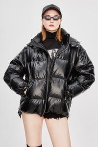 Image 1 - Mùa đông Dài ấm áp Tuyết Mặc Nữ Cotton Tay Dài Phối Lông Dày Chắc Chắn Áo Dây Kéo Nữ Áo Ấm Mùa Đông Quần Áo bán