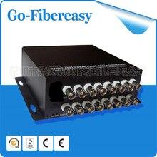 100% nueva CCTV Mini16Channels fibra óptica Video Converter 16ch de vídeo a la fibra óptica multimodo 550 M conector FC