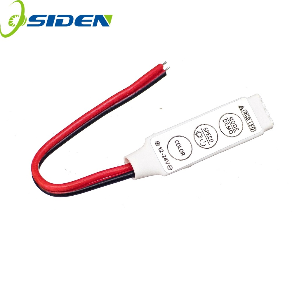 OSIDEN Mini 3Keys Single Color RGB LED Controller Brightness Dimmer12V-24v 6A For Led 3528 5050 Strip Light Easy Operate Key