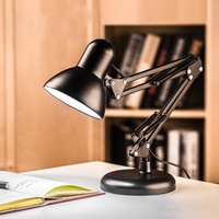 E27 bulbs AC 110 240V LED reading book light study bedroom Flexible long arm folding clip night lights Indoor desk table lamp