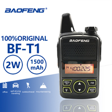 Baofeng BF-T1 Kids Mini Walkie Talkie 20 Channels UHF 400-470MHz Portable T1 Ham Two Way Radio Amador USB Charger Hf Transceiver