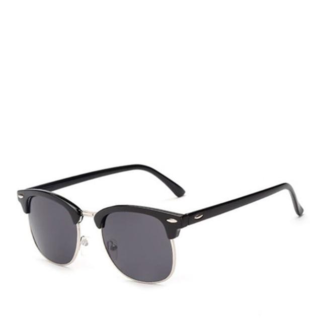 04c6433d769 Half Metal High Quality Sunglasses Men Women Brand Designer Glasses Mirror  Sun Glasses Fashion Gafas Oculos De Sol UV400 Classic