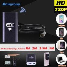 Android IOS USB 720 P 8 мм Камера-Эндоскоп Wi-Fi Эндоскопа 1 М 2 М 3.5 М 5 М Водонепроницаемый Змея Инспекции Бороскоп Видео Трубки Мини Cam