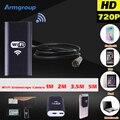 IOS Android USB 720 P 8mm Cámara Endoscopio Endoscopio Wifi 1 M 2 M 3.5 M 5 M Impermeable Inspección de La Serpiente Del Animascopio Video Tubo Mini Cam