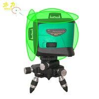 Мюли лазерный уровень с лазером зеленого цвета задние габаритные огни 12В линии Высокое качество Высокая точность 3D 360 плитка датчик уровня
