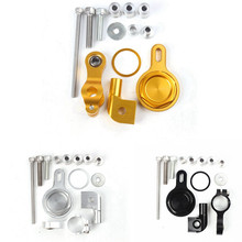 For Yamaha YZF R1 1999 2000 2001 2002 2003 2004 2005 Aluminum Steering Damper Stabilizer Bracket Mount Kit 3 Color цена