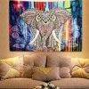 Enipate Indian Elephant Wall Hanging Mandala Tapestry Aubusson Colored Printed Mandala Tapestry Religious Boho Carpet Blanket