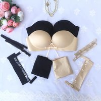 BRZFMRVL Sexy Bra For Lady Seamless Super Push Up Pull LB Sexy LB Gather Adjustable Seamless