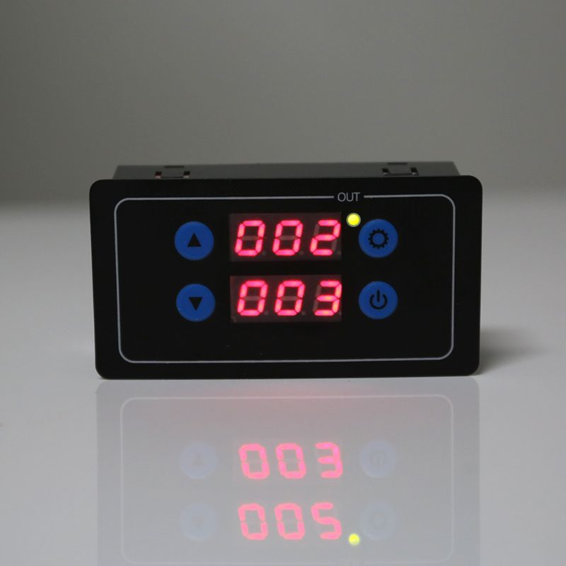 0.1s-999h Countdown Timer Programmable Cycle Control Module Time Dalay Relay Dual Display Timer Relay 5V/12V/220V