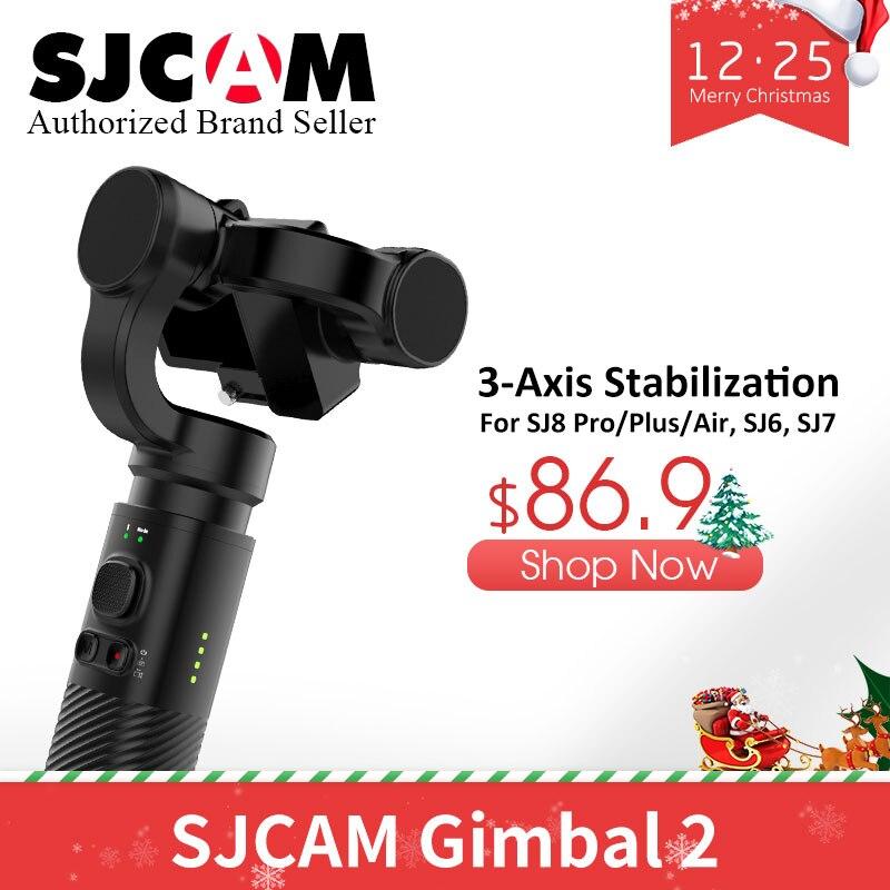 Cadeau!! D'origine SJCAM De Poche CARDAN 2 pour SJ6 SJ7 SJ8 Série Action Caméra 3 Axe Stabilisateur Bluetooth Contrôle pour Yi Caméra
