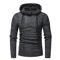 2018 New Pullovers Autumn Warm High Quality Button Sweaters Man Casual Knitwear Winter Men Kakhi Sweatwer XXL