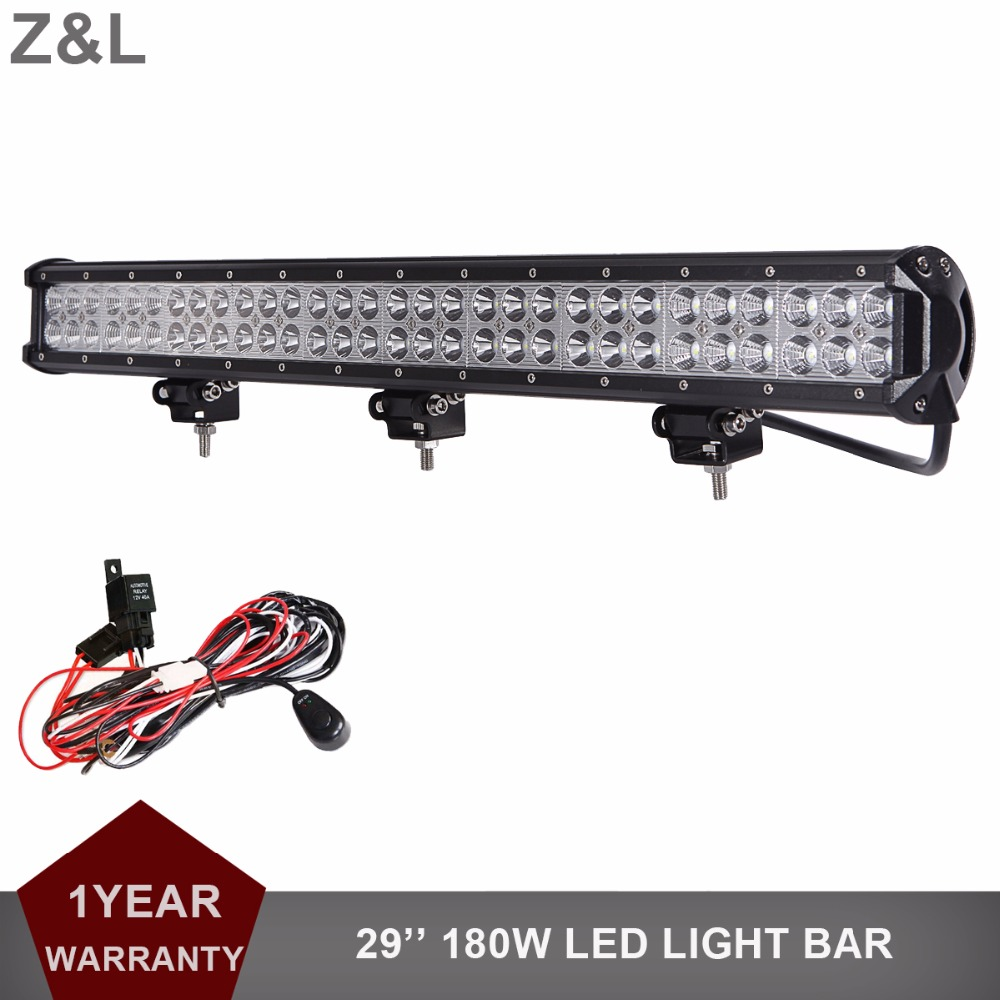 28 Inch 180W Offroad LED Light Bar 12V 24V Car Auto Truck Trailer ATV Pickup SUV 4x4 4WD Driving Lamp Mining Wagon AWD Headlight