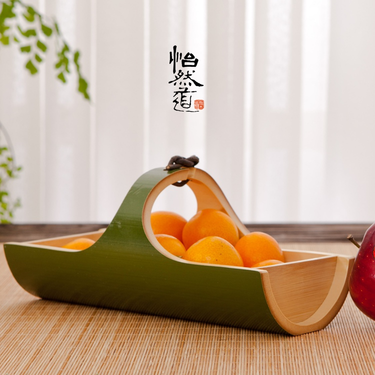 Natural bamboo decorative trays for food bandejas vintage for Decoration retro cuisine