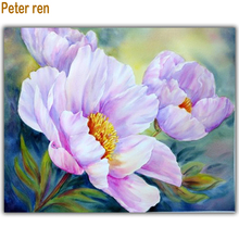 Prter ren Diy diamond painting Cross stitch Kit Diamond Embroidery peony