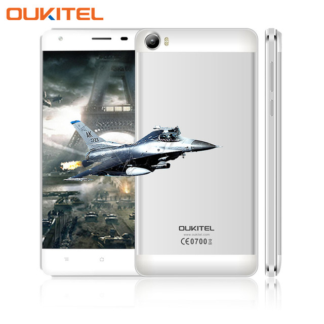 OUKITEL K6000 5.5 Inch HD Cellphone Android5.1 MT6735p Quad Core Dual Sim 8.0M Camera 2G+16G Smartphone Built in 6000mAh Battery