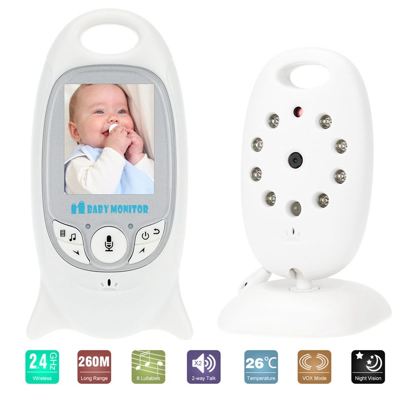 2.4G Wireless Baby Monitor 2 inch Electronic Video Camera Two-way Audio Automatic Night Vision Temperature Monitoring IP Camera fpv 1 2ghz 100mw 4ch wireless audio