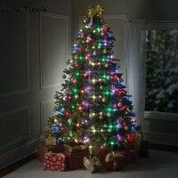 クリスマスツリー48ライトの装飾ぶら下げツリーledマルチカラースタッカブルライトdecoracion arbolバーラデナビ