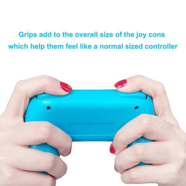 2pcs Update Bracket Hand Holder Wear-resistant Comfort Joy-con handheld Handle Grips Kit for Nintend Switch NS Joycon Controller