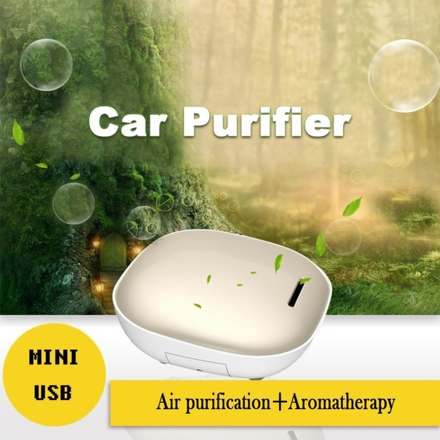 Mini car air purifier negative ions in addition to formaldehyde removing smoke USB aromatherapy car oxygen humidifying purifier