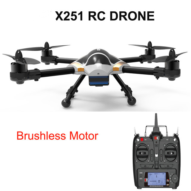 Professional rc drone X251 2.4G 6 Axis 3D 6G Mode Quadcopter Brushless Motor,Headless Mode,One Key To Auto-Return vs K123 professional rc drone fx r111f 5 8g fpv quadcopter 2 0mp camera 6 axis rc drone one key return headless mode led rtf vs q212g