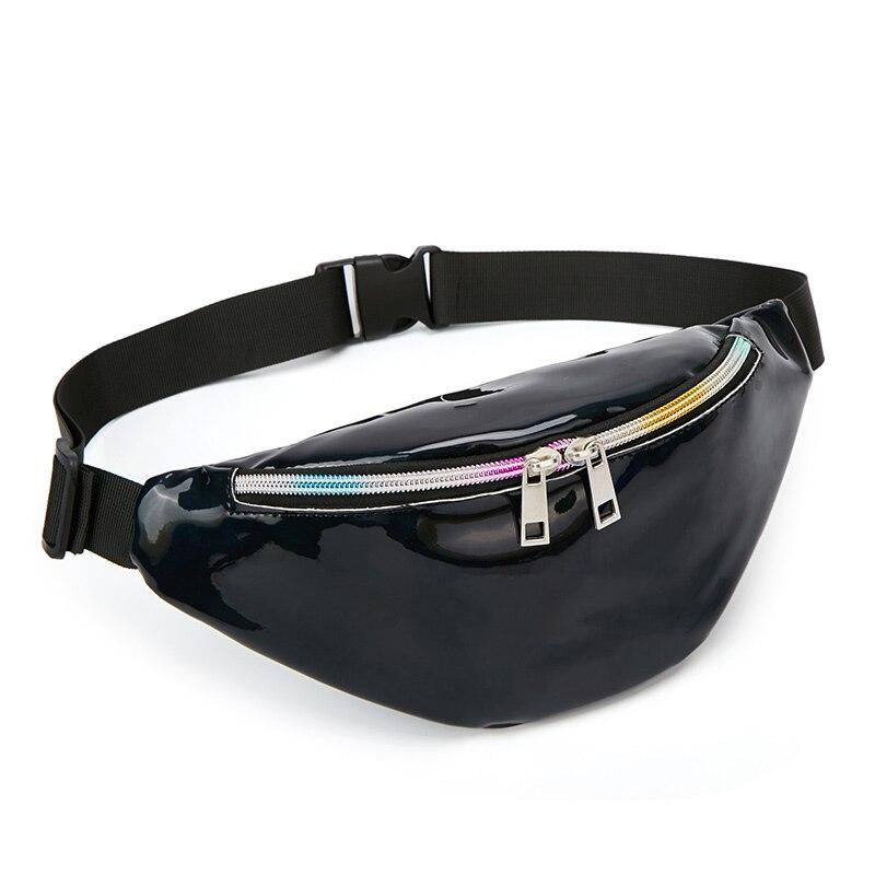 2019 Women Fanny Pack Punk Leg Bag Reflective Laser Shoulder Bag Women's Belt Waist Bag Pochete Women Waist Pack