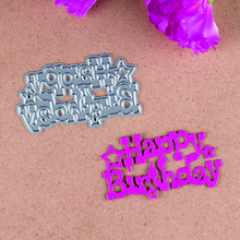 Happy Birthday Metal Cutting Dies Stencils for DIY Scrapbooking/photo album Decorative Embossing Paper Cards