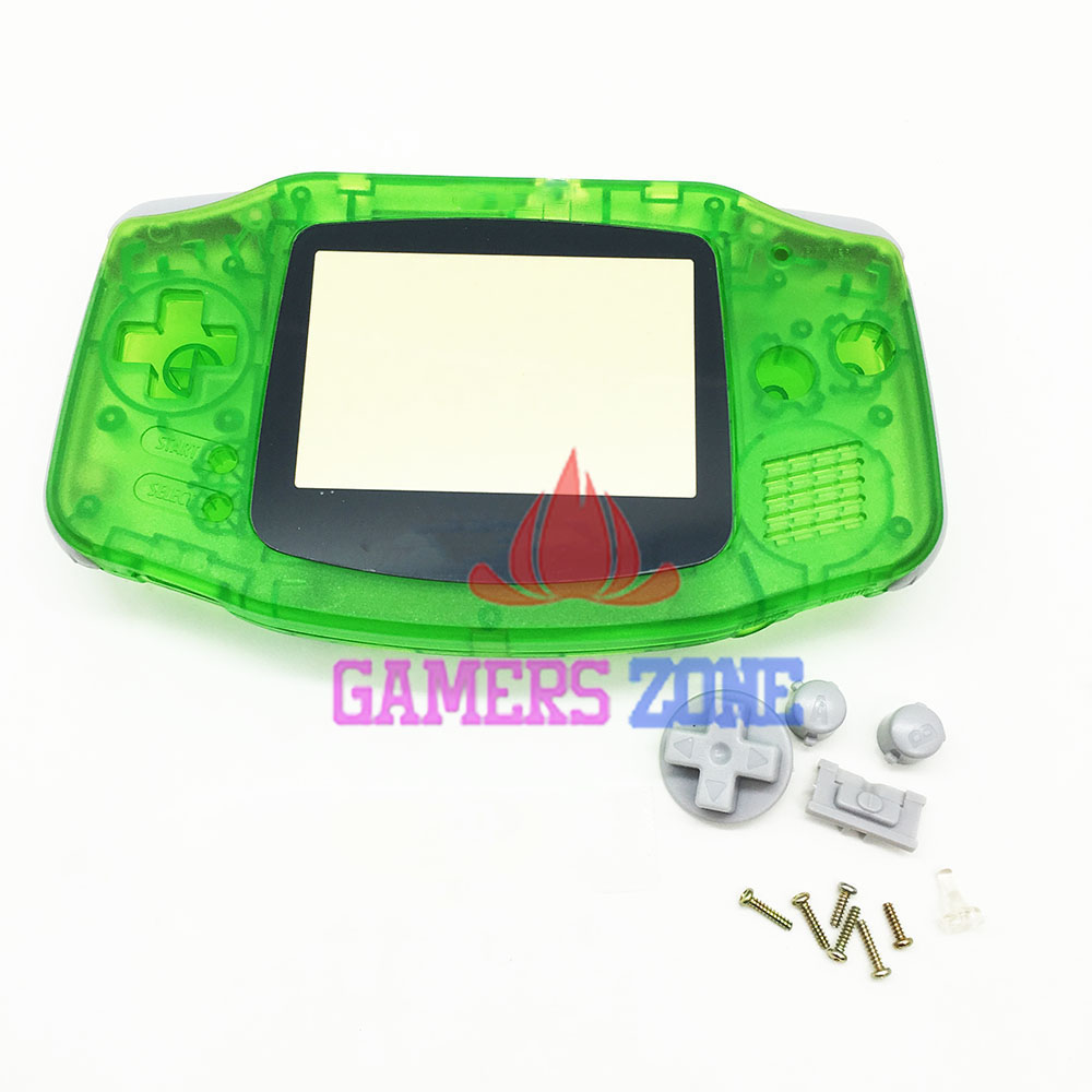 For Nintendo Game Boy Advance Replacement Clear Green Housing Shell Case For GBA