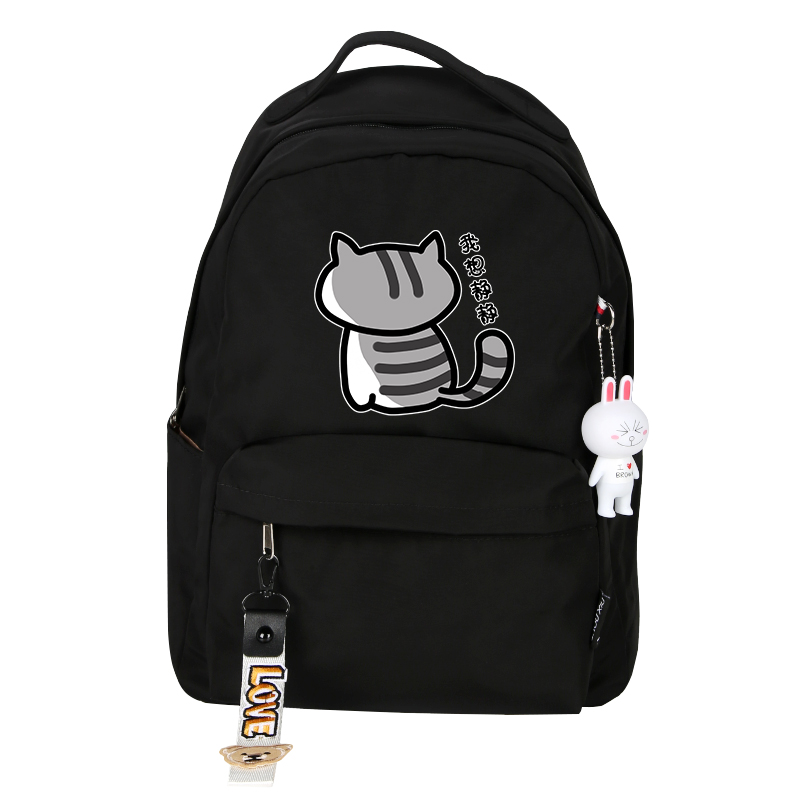 Image 2 - High Quality Neko Atsume Women Cat Backpack kawaii Cute Backpack Pink School Bags Cartoon Travel Backpack Laptop BackpackBackpacks   -