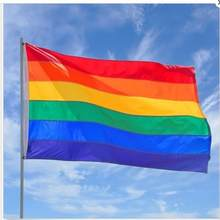 Dainty Rainbow Flag Durable Big Polyester Lesbian Gay Pride Symbol LGBT Flags 90cm x 150cm(China)