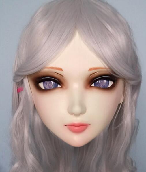 gurglelove Female Sweet Girl Resin Half Head Kigurumi Bjd Mask Cosplay Japanese Anime Role Lolita Mask Crossdress Doll Kids Costumes & Accessories Costumes & Accessories kig004
