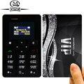 Teclado ruso aiek m5 delgado tarjeta mini teléfono móvil de 4.5mm teléfonos celulares de bolsillo ultra delgado de baja radiación aeku