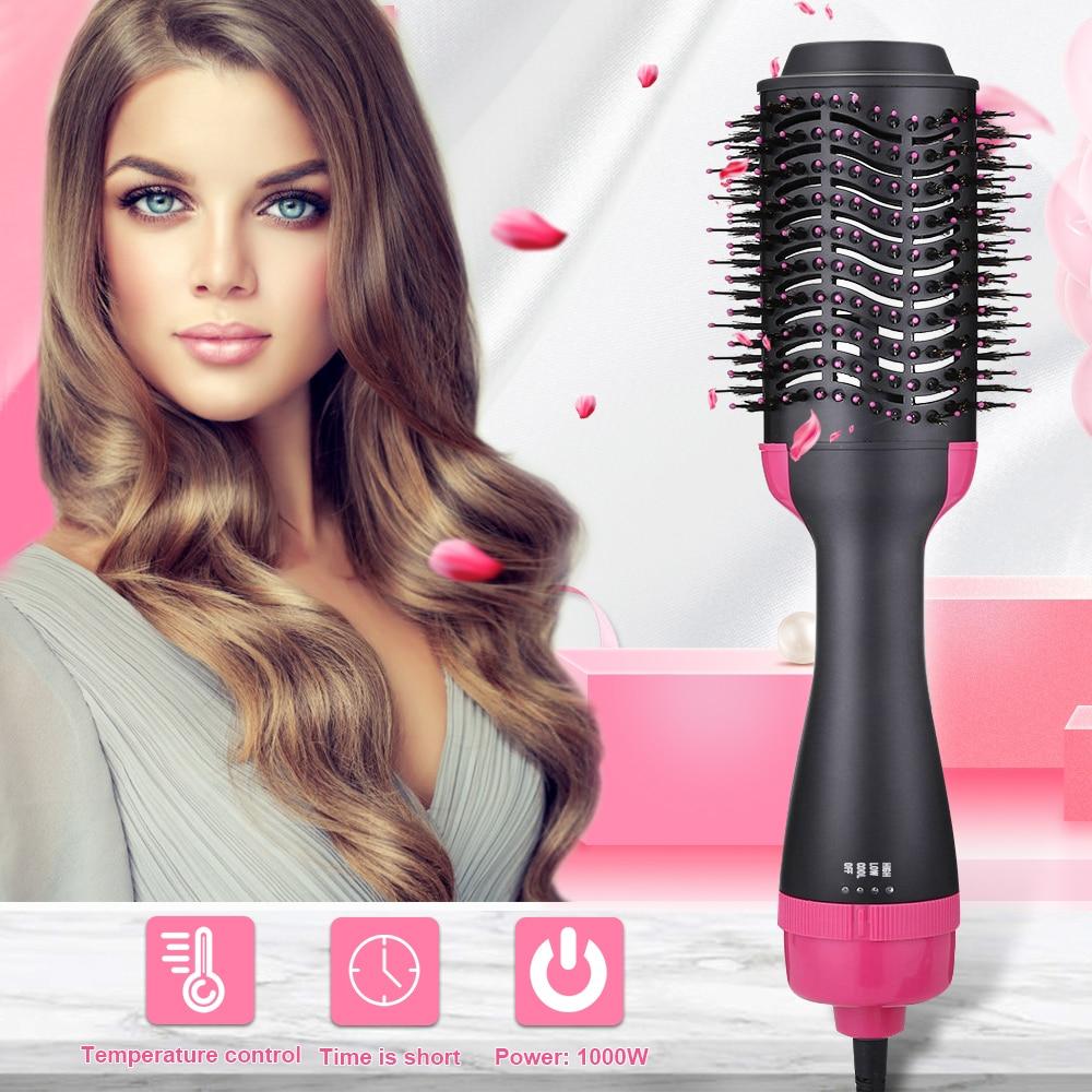 2 in 1 Electric Hair Brush Hair Dryer Volumizer Rotating Hair Brush Roller  Rotate Styler hot comb straightener Curling Iron