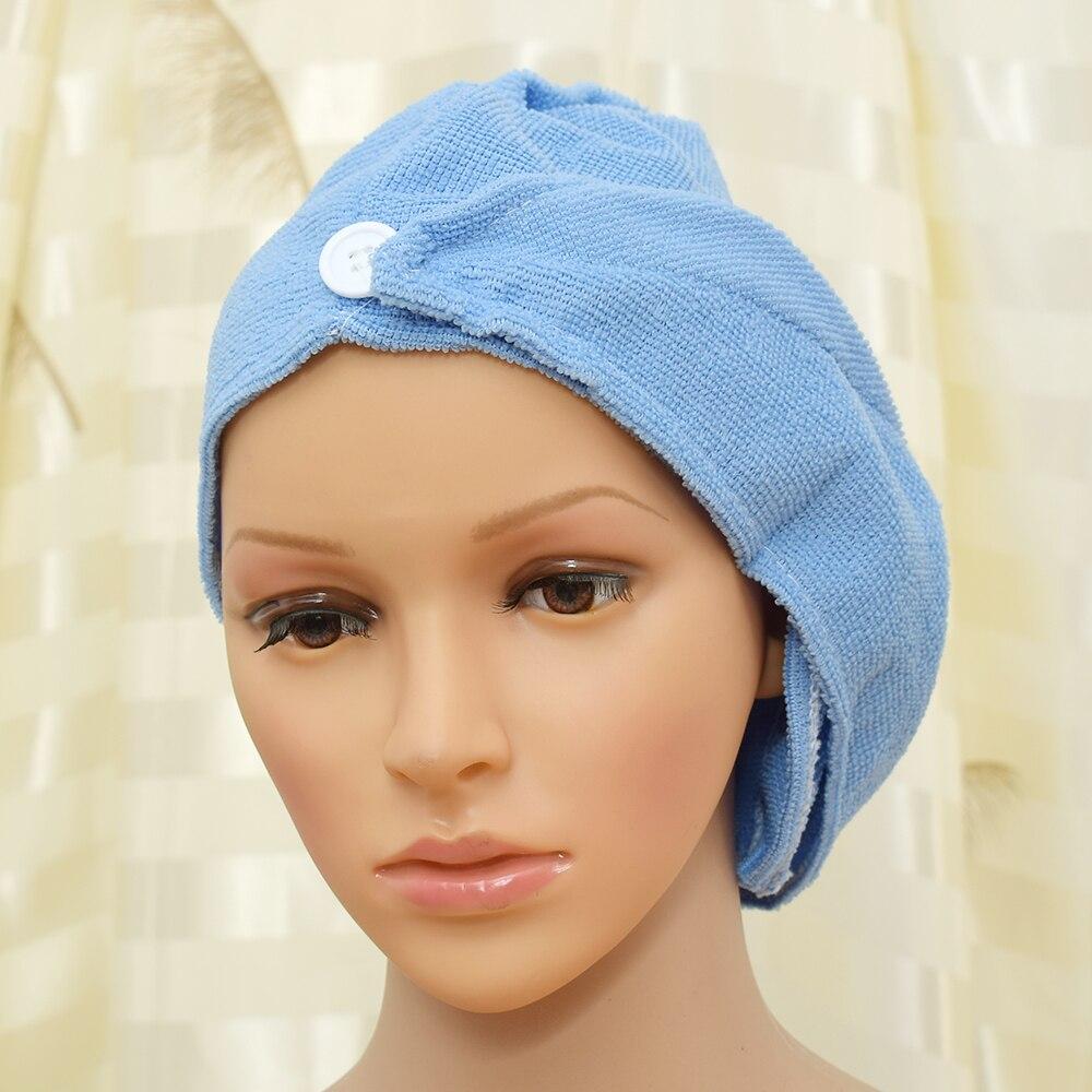 1pc Ladies Bathroom Hair Drying Cap Super Water-absorbent Microfiber Hair Towel Makeup Cosmetics Bath Cap For Women Ponytail Hat Home Improvement