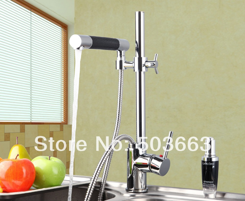 New Swivel Kitchen Brass Faucet Basin Sink Pull Out Spray Mixer Tap S 776 Mixer Tap