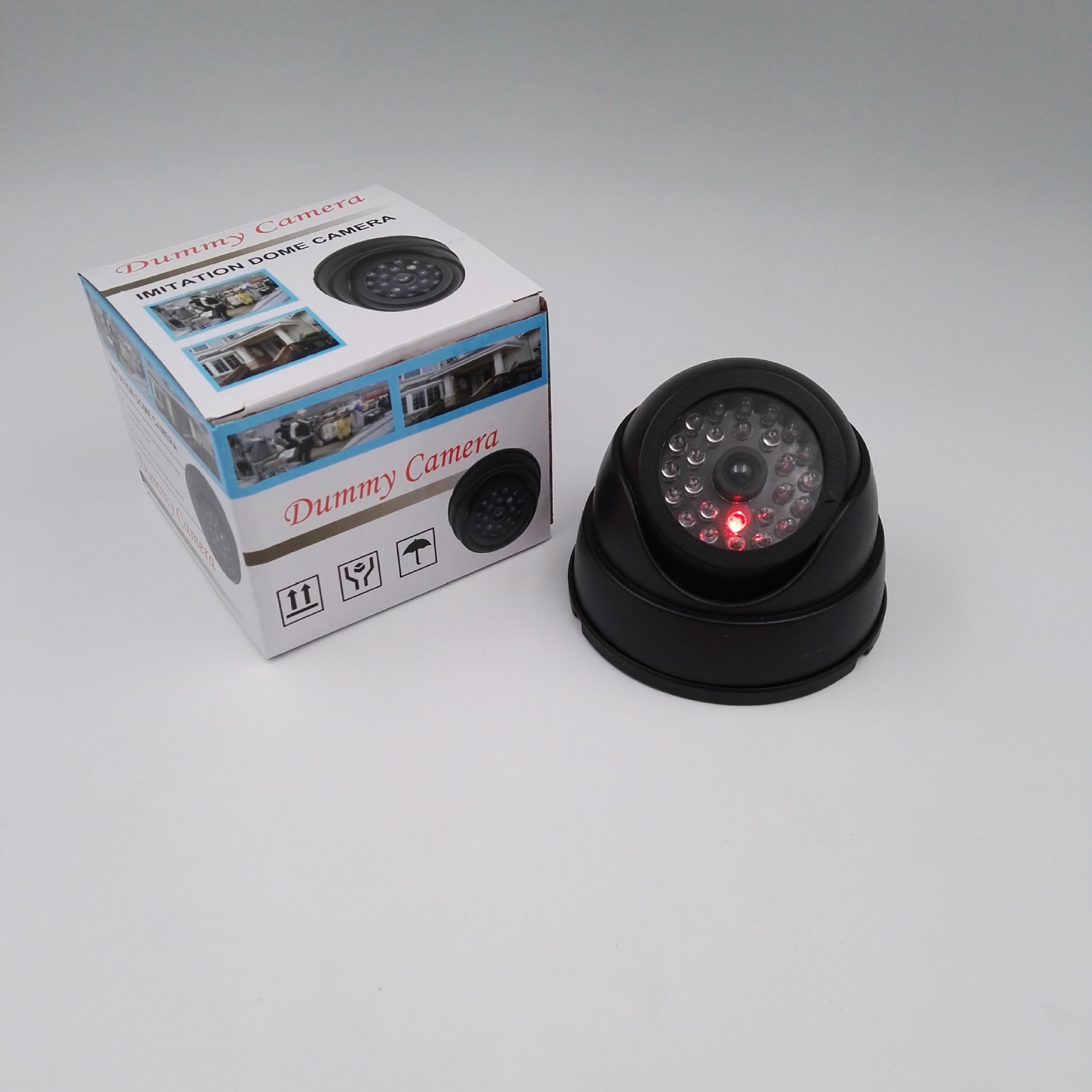 CCTV High Quality Conch Dummy Round High Simulation Monitor Home Security Dummy Camera Black And White 2 Colors Optional