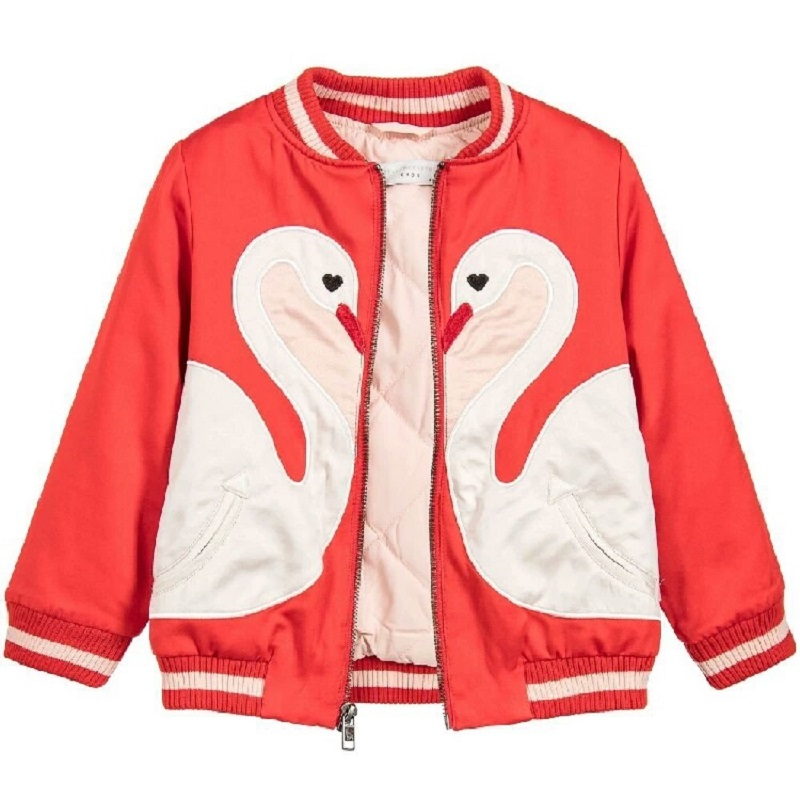 Baby Girls Jackets S Cartoon Embroidery Kids Outwear Baseball Jackets Soft Students Princess Coats Europe and America Style