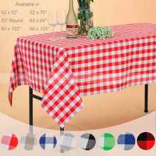 VEEYOO Rectangle Cotton Tablecloth Plaid Table Cover Wedding Home Party  Decor(China)