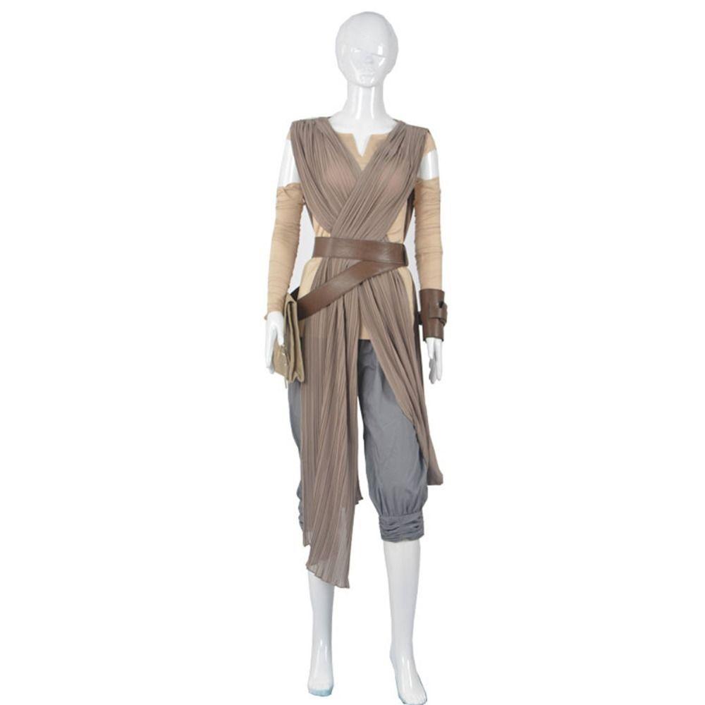 Femmes Star Wars la Force réveille REY ensemble complet Costume Cosplay Rey robe de jeu de rôle