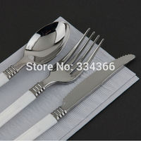 150pcs Lot Disposable Plastic Wedding Cutlery 50Knives 50Forks 50Spoons Flatware Sets Tableware As Silver