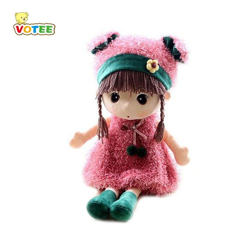 1 unid 45 cm nuevo RagDoll muñecas de peluche de felpa muñeca de trapo de boda juguetes bonitos modelo dulce niña niños regalo de cumpleaños